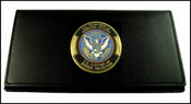 Customs and Border Protection Leather Checkbook Cover