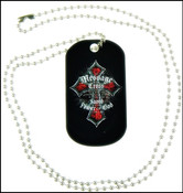 Message of the Cross Christian Dog Tag