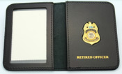 Transportation Security Administration Officer Mini Badge ID Wallet w/Retired Officer Embossing