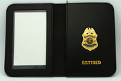 Immigration and Naturalization Service Special Agent Retired Mini Badge ID Wallet