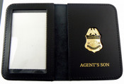 "AMO Marine Interdiction Agent Mini Badge with ""Agent's Son"" Embossed Wallet"