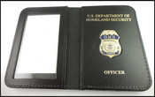 DHS Federal Protective Service Police Mini Badge ID Holder Case