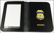 Immigration and Customs Enforcement Intelligence Officer Mini Badge ID Wallet with Retired Embossing