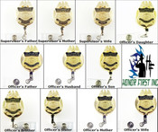 Customs and Border Protection Family Members Mini Badge ID Holders/ID Reels
