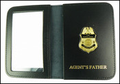 US Border Patrol Supervisor Mini Badge ID Card Holder Case with Agent's Father Embossing