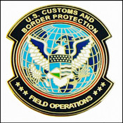 Customs and Border Protection Office of Field Operations Mini Patch Lapel Pin in Gold