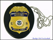 Immigration and Customs Enforcement Badge Holder with image