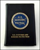 Embossed US Border Patrol Badge and Credential Case with an USBP Logo  Medallion
