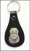 Veterans Affairs Police Sergeant Mini Badge Key Ring