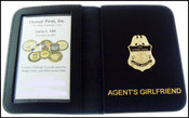 US Border Patrol Agent's Girlfriend Mini Badge ID Card Holder Case