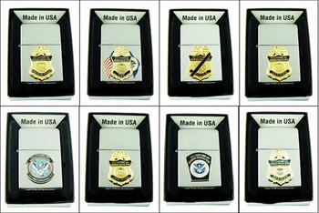 Customs and Border Protection Chrome Cigarette Lighters