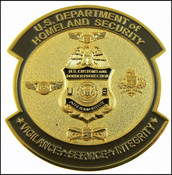 CBP Office of Air and Marine Operations Patch Challenge Coin - Front