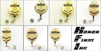 Customs and Border Protection Officer Mini Badge ID Holders   ID Reels