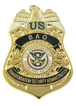 transportation security administration bao officer mini badge lapel pin - Transportation Security Officer