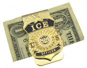 Immigration and Customs Enforcement Officer Mini Badge Money Clip