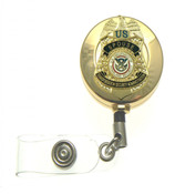 "Transporation and Security Administration ""Spouse"" Mini Badge Retractable ID Holder"