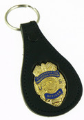 Citizenship and Immigration Service Mini Badge Leather Key Ring
