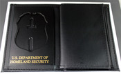 U.S. Secret Service Credential and Badge Wallet w/embossing - Badge Cut 1