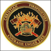 Christian Firefighter Challenge Coin - Front