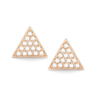 Emily Sarah Triangle Studs - Rose Gold