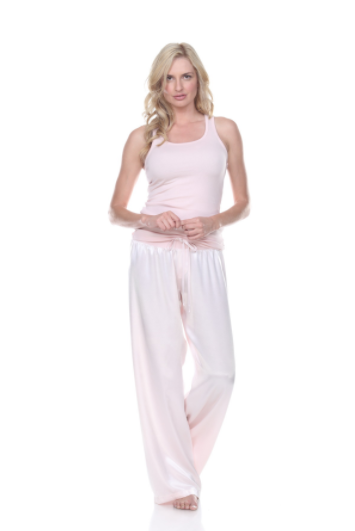 Jolie Satin Pant With Draw String Pictured With Charlie Racerback Tank