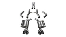 "Corsa 2.75"" Xtreme Cat-Back Exhaust System - Dual Rear Exit - Twin 3.5"" Black Tips"