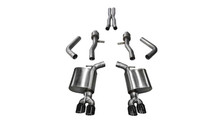 "Corsa 2.75"" Sport Cat-Back Exhaust System - Dual Rear Exit - Twin 3.5"" Black Tips"