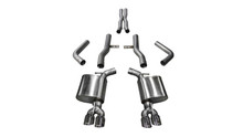 "Corsa 2.75"" Xtreme Cat-Back Exhaust System - Dual Rear Exit - Twin 3.5"" Polished Tips"