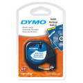 Dymo LetraTag Tape SD91201 12MM X 4M White Plastic