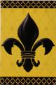 Fleur De Lis Black and Gold