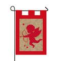 Burlap Valentine Garden Flag