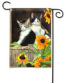 Calico Kitties Garden flag