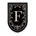 """Black Monogram """"F"""""""