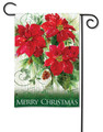 Christmas Poinsettias Garden Flag