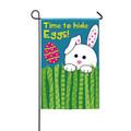 Time To Hide Eggs Garden Flag