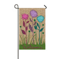 Welcome Flowers Garden Flag
