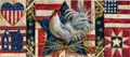 American Folk Rooster Insert Mat