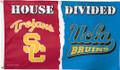 3' x 5' Deluxe House Divided USC vs. UCLA Flag