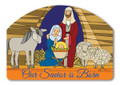 Stained Glass Nativity Yard Design