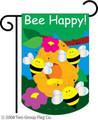 Bee Happy Mini Garden Flag