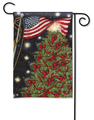 Patriotic Christmas Garden Flag