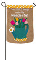 Simple Things Garden Burlap Flag