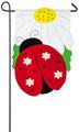 Ladybug on Daisy Garden Flag