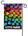 Autism Aware Garden Flag