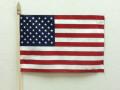 "12"" X 18"" U.S. Cotton Hemmed Stickflag"