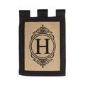 "Burlap Monogram ""H"" Garden Flag"