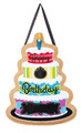 Happy Birthday Burlap Door Hanger