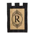 """Burlap Monogram """"R"""""""