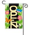 Blue Bird Open Applique Garden Flag