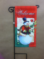 Welcome Snowman Mini Garden Flag